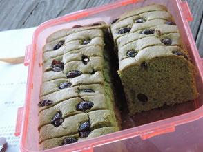 岡田さん奥様手作りのケーキの差入れ
