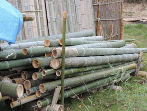 里山フォレスターの協力で竹が溜まってきました!
