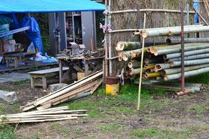 伐りだした竹が徐々に増えています!