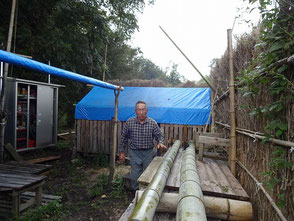 3年竹を切出し、これが長持ちすると言う坂口さん
