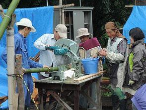 武豊町のお灸教室の竹筒を加工しました!