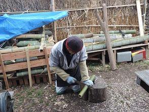 岡田さん 今度はどんな竹細工に挑戦ですか?