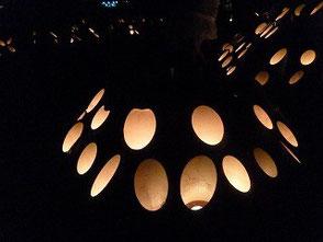 ロウソクの灯りは心が和みます!