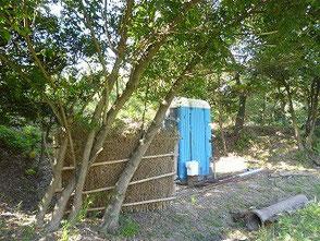 トイレの移設先へ手作りの目隠しを運搬しました!