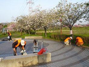 翌日(18日)は展示した場所の清掃を実施