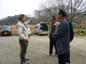 コーディネーターの方に説明する木村会長