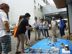 竹を使った作品の展示コーナーも作りました!