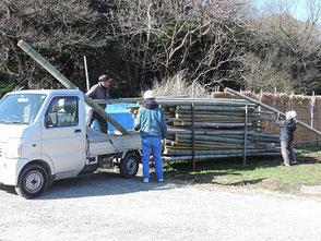 竹の保管場所が満杯になりました