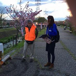 知多メディアス森さんのインタビューを受ける木村会長