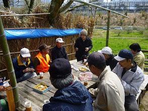 森のカフェで休憩鈴木さんが桜餅を作ってくれました!