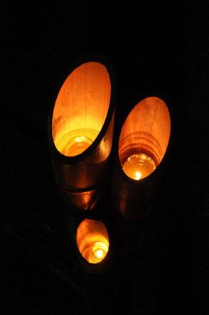 ロウソクの灯りが幻想的でした!