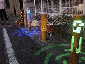 LED電球を使った彫灯篭