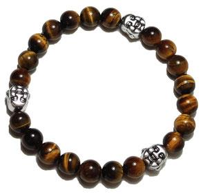 BEHERO Designer Armband Happy Buddha (weiß)