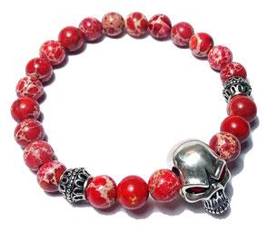 BEHERO Red Skull Armband