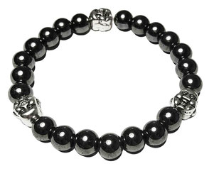 BEHERO Designer Armband Happy Buddha (grau)