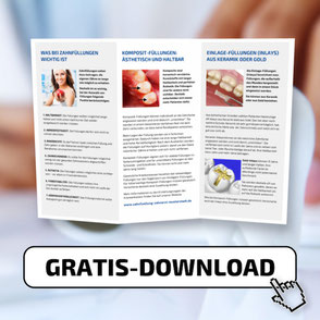 Klicken Sie hier, um die kostenlose Patienten-Information über Zahnfüllungen abzurufen!