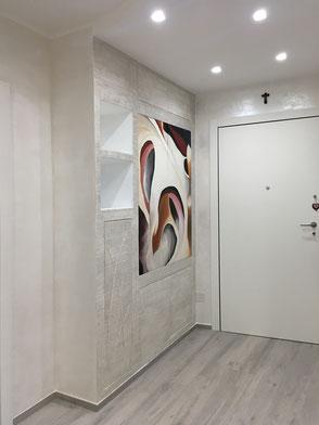 mobile ingresso decorato, ingresso personalizzato, ingresso moderno
