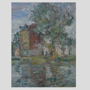 Albert Feser - Hamburg - Häuser am Kanal/Hamburg-Veddel
