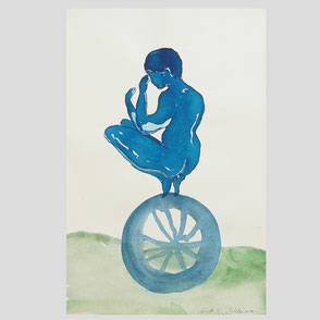 """Cornelia Schleime - """"Kind auf Rad"""""""