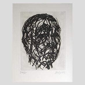 Teruko Yokoi - Abstraktes Bild ohne Titel