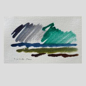 Siegward Sprotte - Wolken, Häuser und Wiese