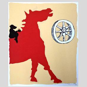 Immendorff - Pferd und Affe