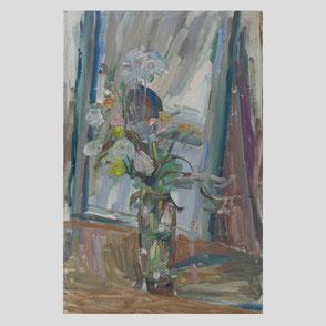 Albert Feser - Blumenstrauß vor Spiegel