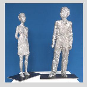 Balkenhol - Mann Bronzerelief