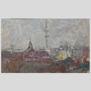 Albert Feser - Boote im Pril/Hallig Hooge