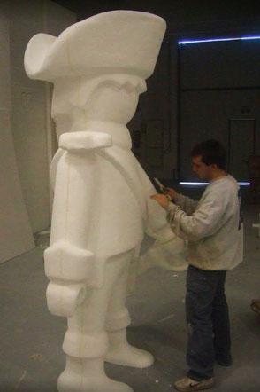 Figura de Click , Escultura de Juguete Gigante