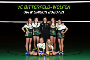 Das U14 weiblich Team des VC Bitterfeld-Wolfen