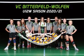 Das U12 weiblich Team des VC Bitterfeld-Wolfen