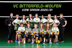 Das U13 weiblich Team des VC Bitterfeld-Wolfen