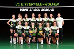 Das U20 weiblich Team des VC Bitterfeld-Wolfen
