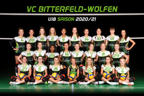 Das U18 weiblich Team des VC Bitterfeld-Wolfen