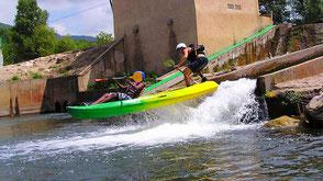 Kayak sur le Canal du Midi