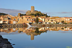 Gruissan village et sa tour Barberousse