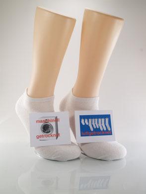 Bild: Socken im Trockner Sneaker Socken weiß, Strumpf-Klaus