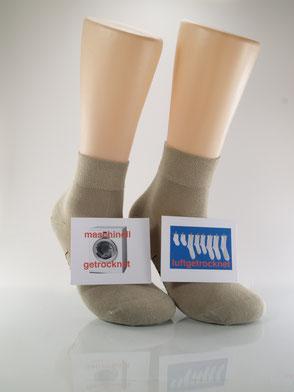 Bild: Socken im Trockner Bambus Kurzschaft, Strumpf-Klaus