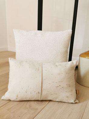 coussin made in Belgium carreaux laine