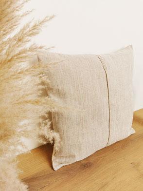coussin made in Belgium beige easyclean texture