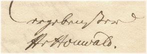 Signum Karl Heinrich Ferdinand von Houwald, 1832.