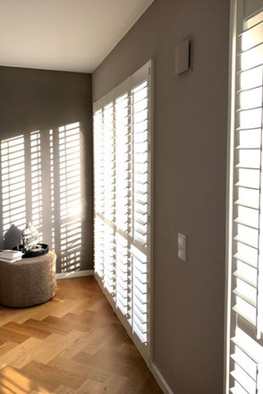 holzlamellen f r verschattung und sichtschutz shutters. Black Bedroom Furniture Sets. Home Design Ideas