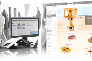 Kasse für Onlinehandel
