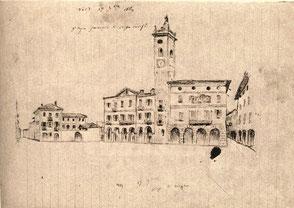 Piazza Martiri di Alessandria nel 1840