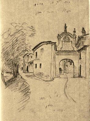 Porta Belmonte nel 1840