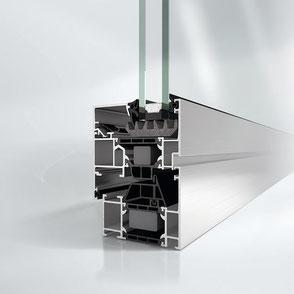 Aluminiumfenster GW2310 bei Walz Bauelemente