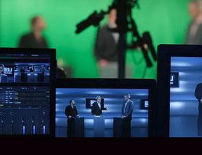 Live-Stream mit Greenscreen und Monitoren