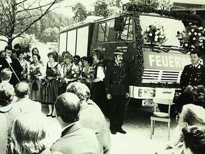 Tankwagensegnung 1985 Feuerwehr Pischeldorf - Steyr RLFA 2000