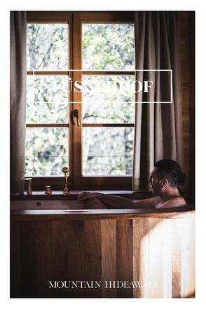 12 spektakuläre Hotel-Badewannen in den Alpen! Im NATURHOTEL LÜSNERHOF  ist die überschäumende Urlaubsfreude in privater Atmosphäre garantiert! #wellnesshotel #naturhotel #adultsonly #südtirol #plose #lüsneralm #rodeneckeralm #mountainhideaways